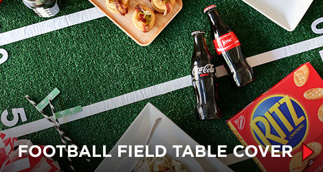 DIY Football Field Table Cover