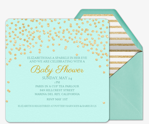Baby Sparkle Invitation