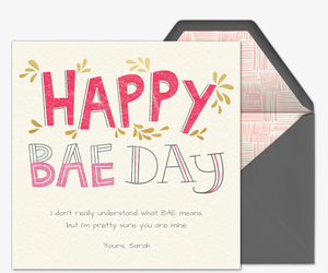 Happy Baeday Invitation