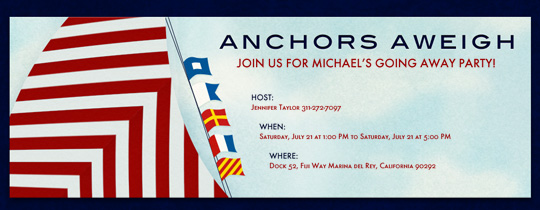 Anchors Aweigh Invitation