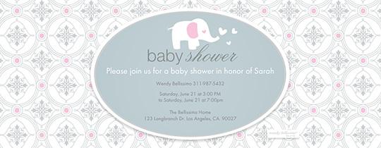 baby, baby shower, elephant, aqua, heart, hearts, bellissimo,