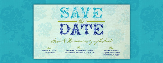 Aquamarine Invitation