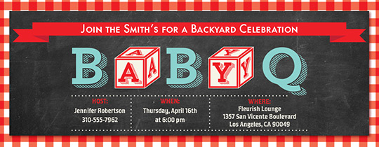 bbq, barbecue, baby, baby shower, backyard bbq, outdoors, summer, cookout, baby blocks, couples shower