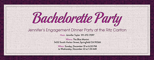 bachelorette, bachelorette party, purple