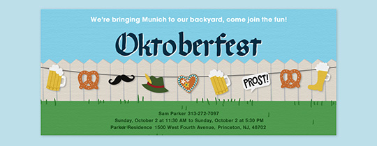 Backyard Oktoberfest Invitation