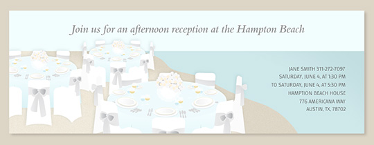 Beach Table Setting Invitation