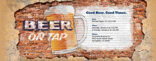 Beer on Tap Invitation