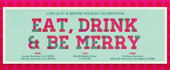 be merry, christmas, christmas party, drink and be merry, eat, gingham, holiday, holiday party, merry, xmas