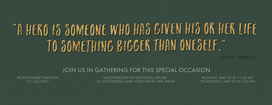 Bigger Than Quote Green Invitation