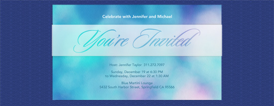 Blue Lights Invitation