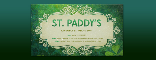 Bohemian St. Paddy's Invitation
