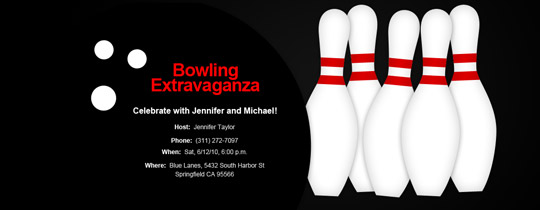 Bowling Extravaganza Invitation