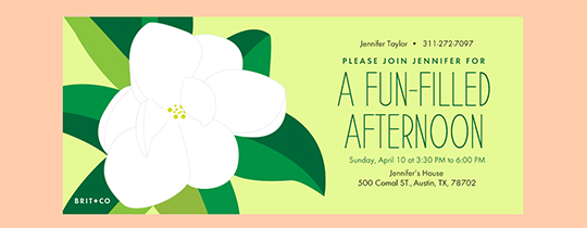 Tropical Flower Invitation