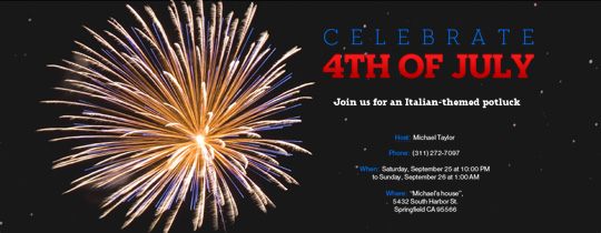 Celebrate 4th of July Invitation
