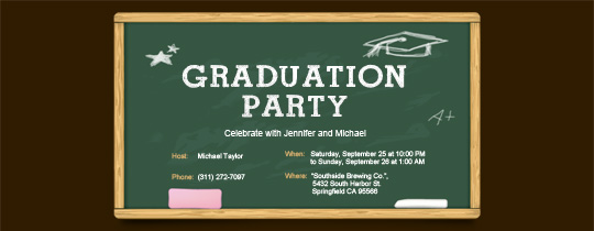 chalkboard, classroom, graduation, graduation cap, graduation party