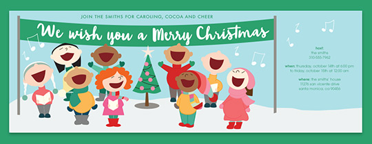 Christmas Carolers Invitation