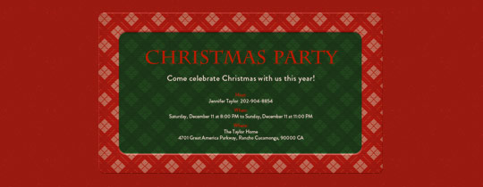 Christmas Plaid Invitation