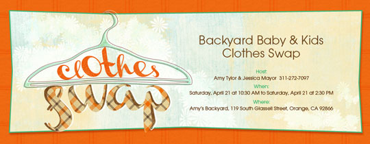 Clothes Swap Invitation