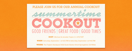 cookout party invitation templates