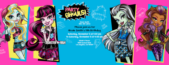 Party Ghouls Invitation