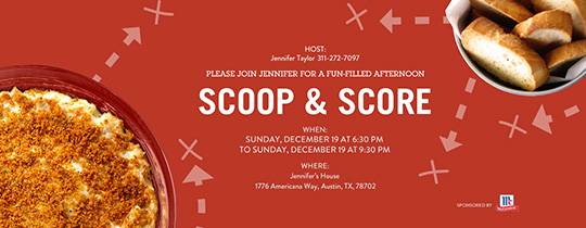 Scoop&Score Invitation