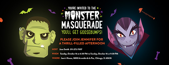 Monster Masquerade Invitation