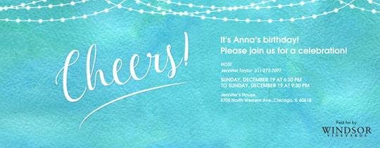 Cheers Invitation