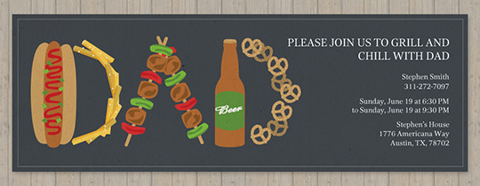 Dad Picnic Food Invitation
