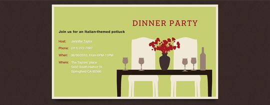 dinner, dinner party