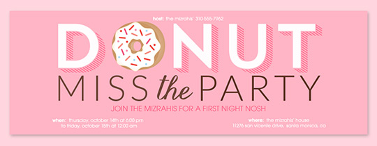 Donut Miss The Party Pink Invitation