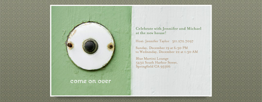 come on over, doorbell, house, housewarming, housewarming party, new apartment, new house