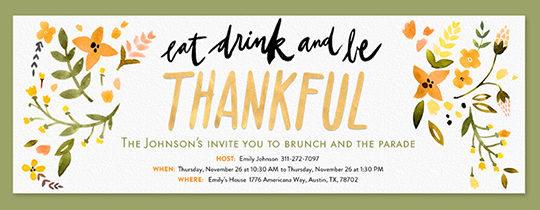 Evite.com | Free Online Thanksgiving Dinner Invitations