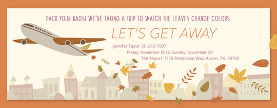 Fall Vacation Invitation