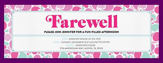 retirement  farewell free online invitations