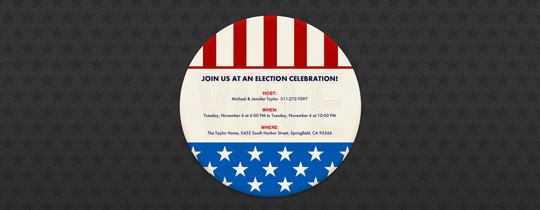 Flag Button Invitation