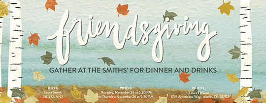 Friendsgiving Birch Invitation