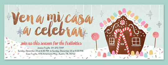 Gingerbread Party Invitation