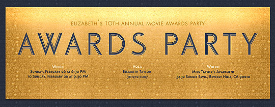 Viewing Party free online invitations – Movie Themed Invitation Template