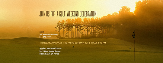 Golf Course Sunrise Invitation