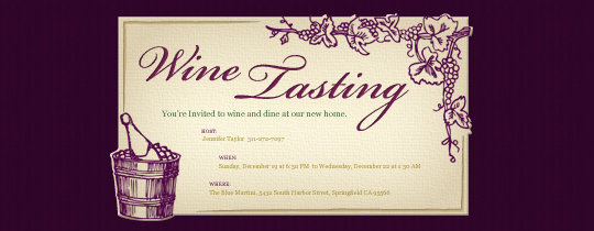Grapes Invitation