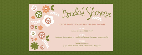 bridal shower, floral, flowers, green, plants, wedding shower
