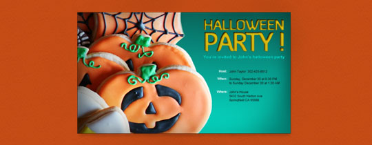 Halloween Cookies Invitation