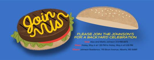 Hamburger Join Us Invitation