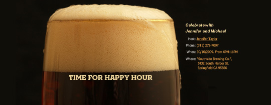 Happy Hour Stout Invitation
