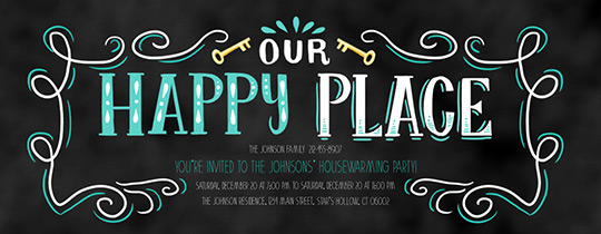 Happy Place Invitation