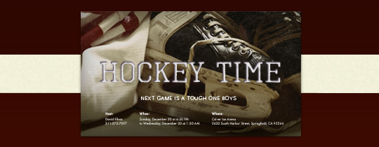 Hockey Skates Invitation