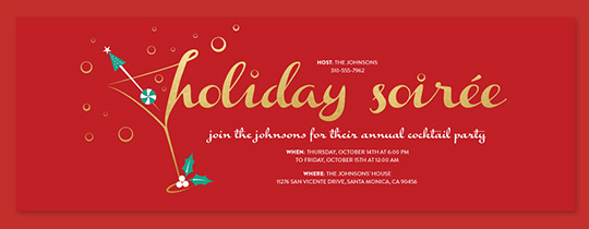 Holiday Soiree Invitation