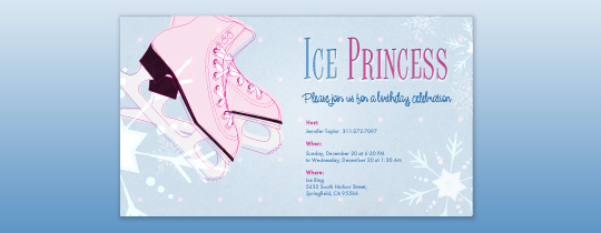 Ice Princess Invitation