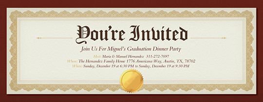 Graduation Party Online Invitations