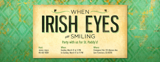 Irish Eyes Invitation